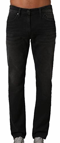 Mavi Men's Jean Marcus Slim Straight Leg In Dark Smoke Willi