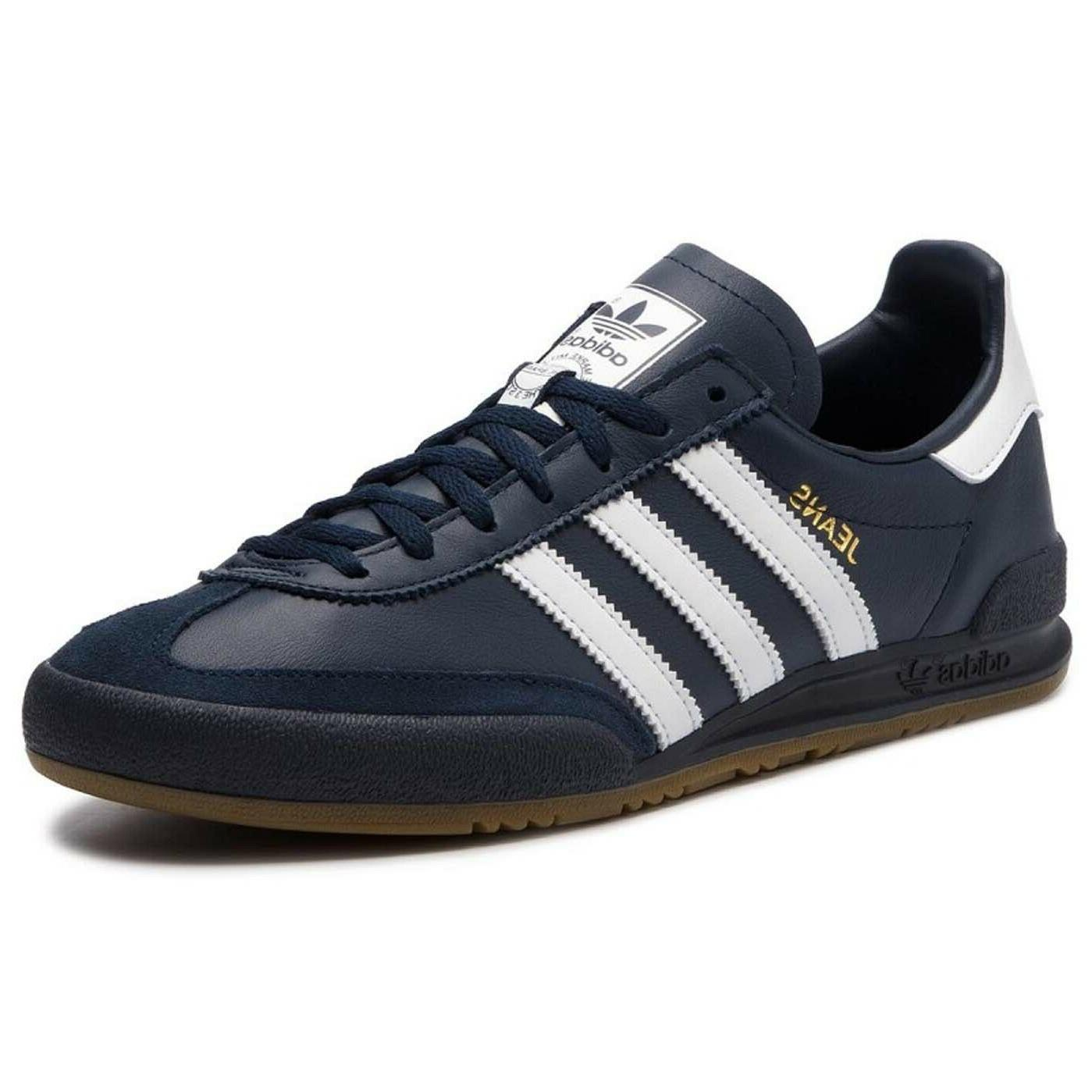Adidas Jeans Collegiate Navy EU-38 Leather Sneakers Blue US-