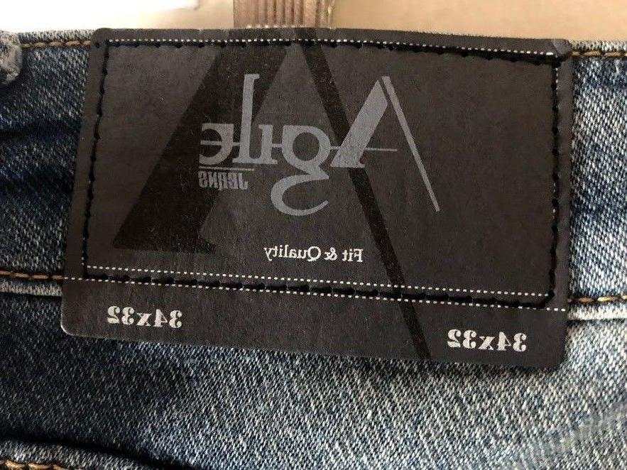 AGILE JEANS DENIM STRAIGHT SIZE 34 X 32 WITH