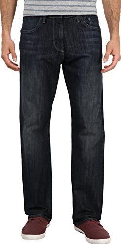 Mavi Jeans Men's Matt Mid Rise Relaxed Straight in Deep Stan