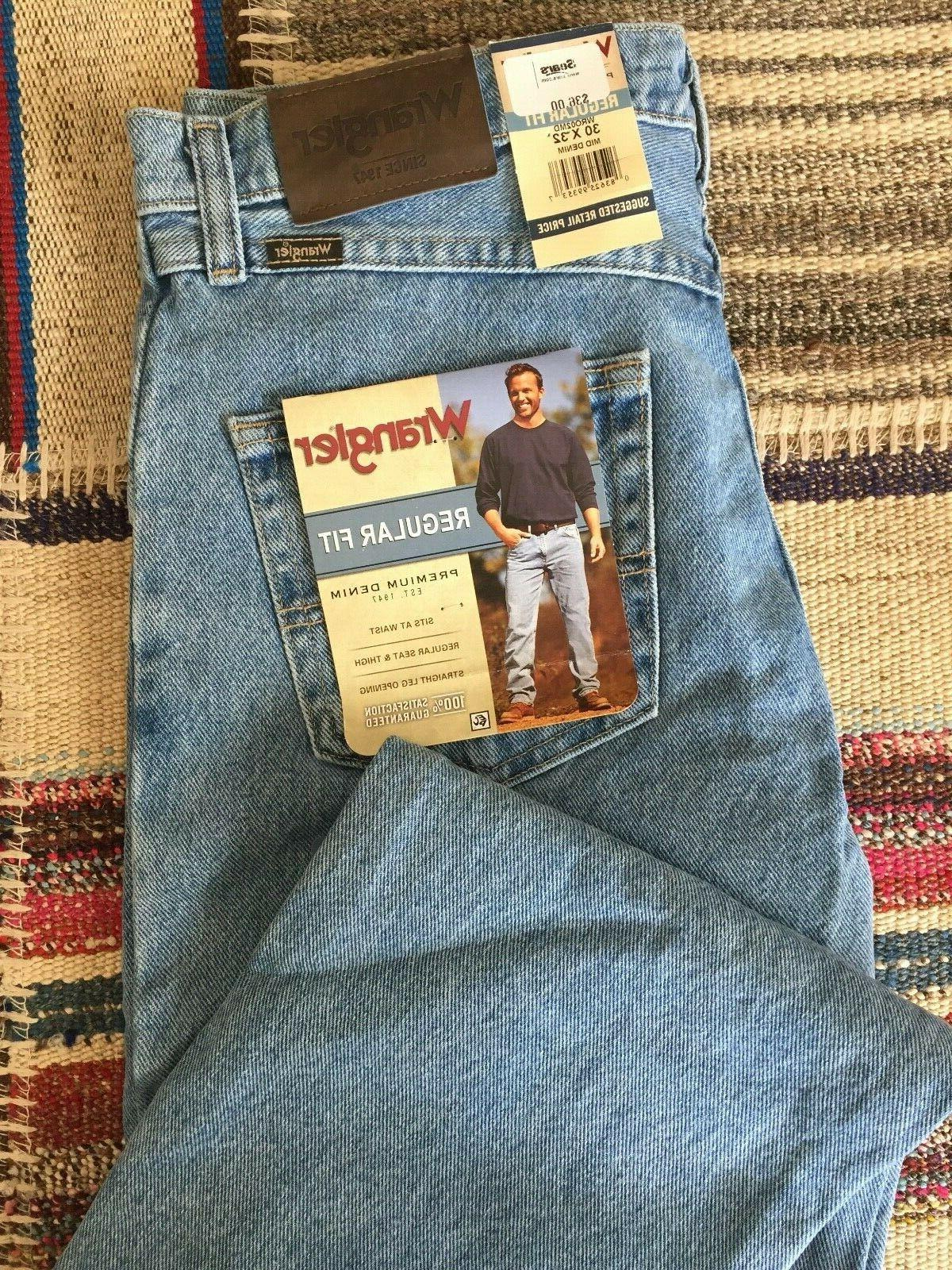 jeans men s regular fit mid denim