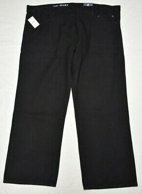 Izod Size Leg Denim Black P574