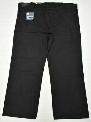 Izod 46x30 Leg 5-Pocket Denim Black P574