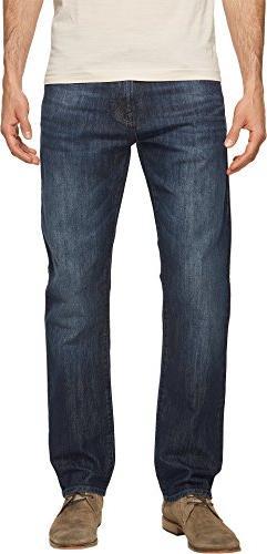 Mavi Jeans Men's Zach Regular Rise Straight Leg in Deep Shad