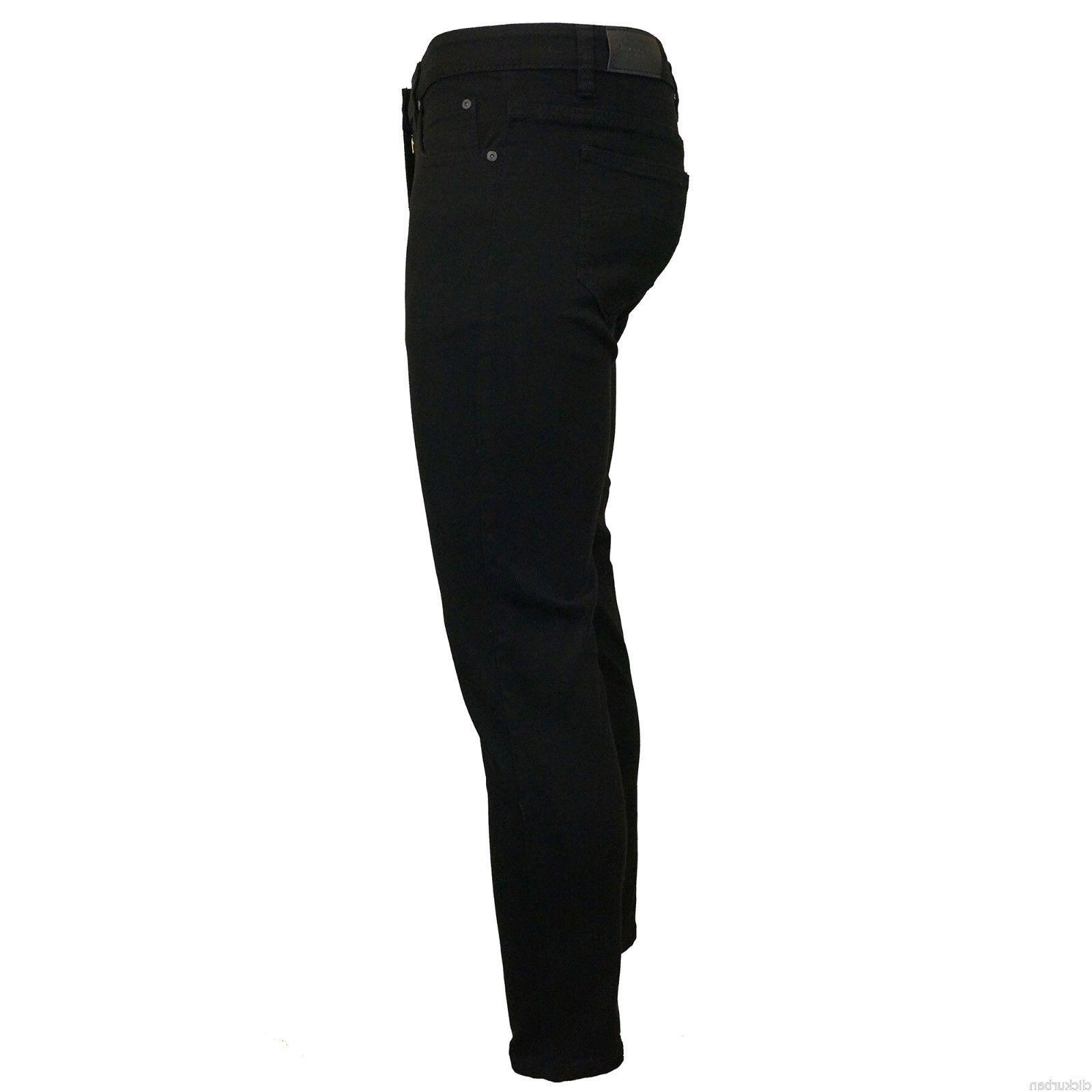 KAYDEN.K JET BLACK Men's Skinny Denim Pants 28-42