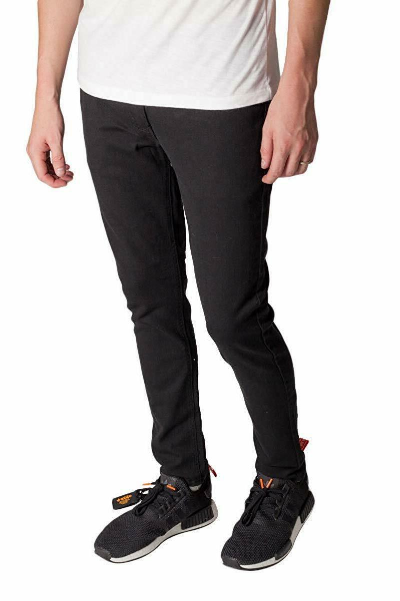KAYDEN.K BLACK Men's Skinny Fit Stretch Denim Jeans Pants Size 28-42