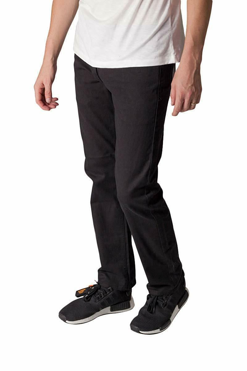 KAYDEN.K Men's Fit Jeans BLACK Pants Size - 40