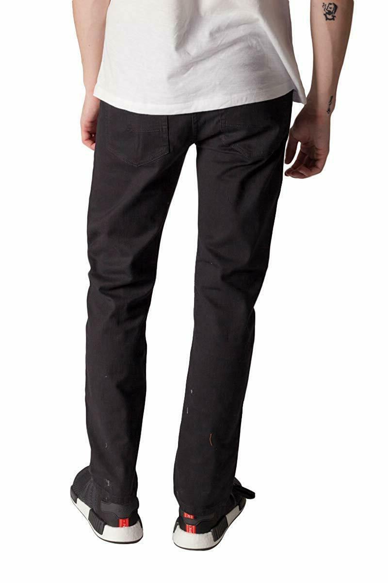KAYDEN.K Men's Slim Fit Jeans BLACK Pants Size 30 40