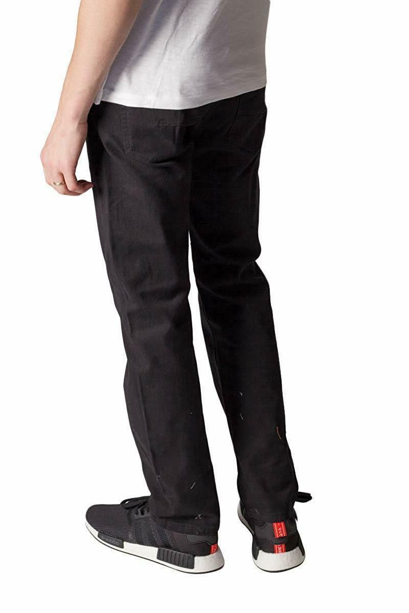 KAYDEN.K Men's Slim Jeans Twill Pants Size 30 - 40