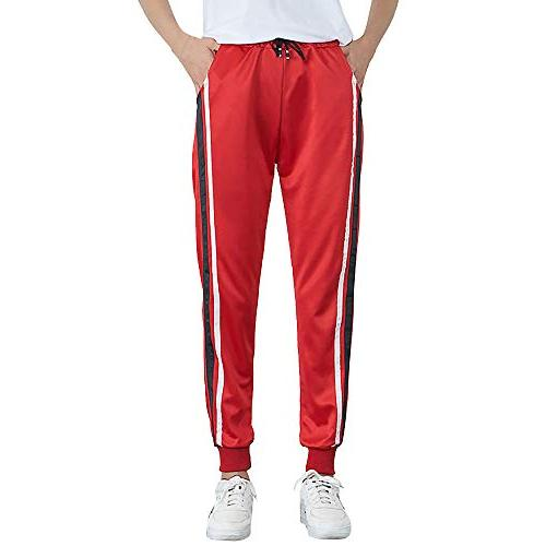 ladies trousers womens mid waist casual striped