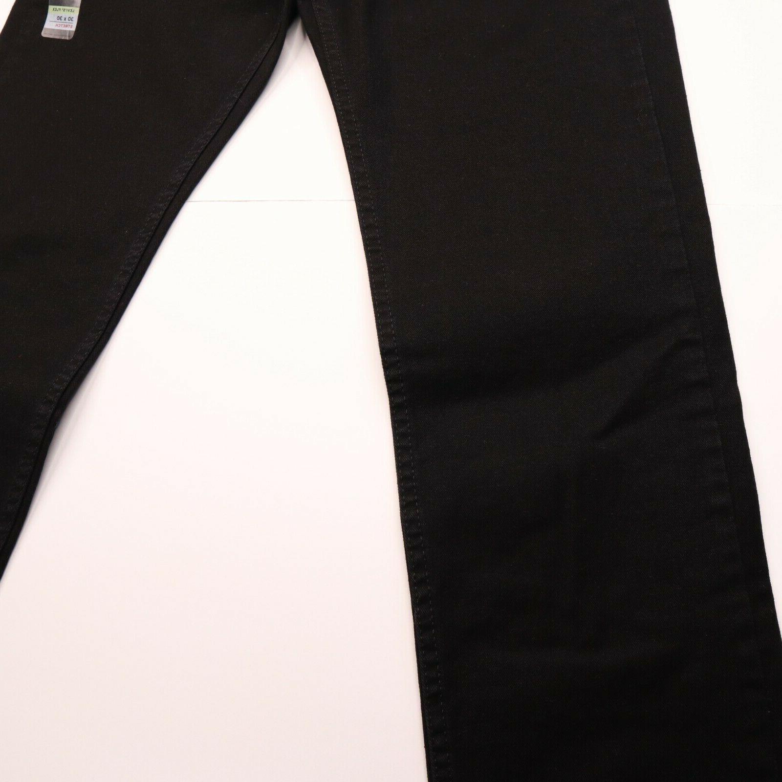 Levi 514 Men's Size 30 Straight Low Stretch Black