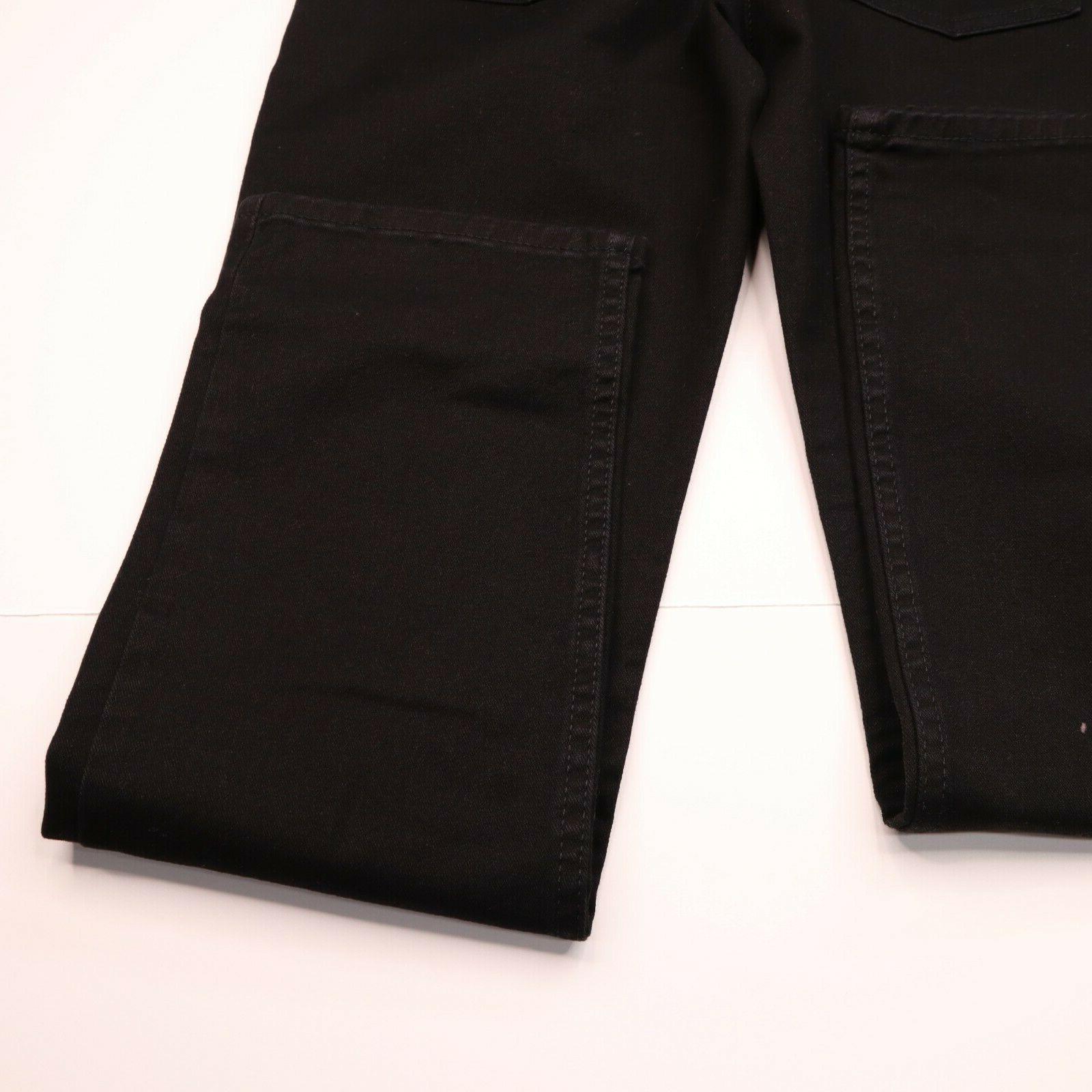 Levi Size 30 x Straight Fit Stretch Black