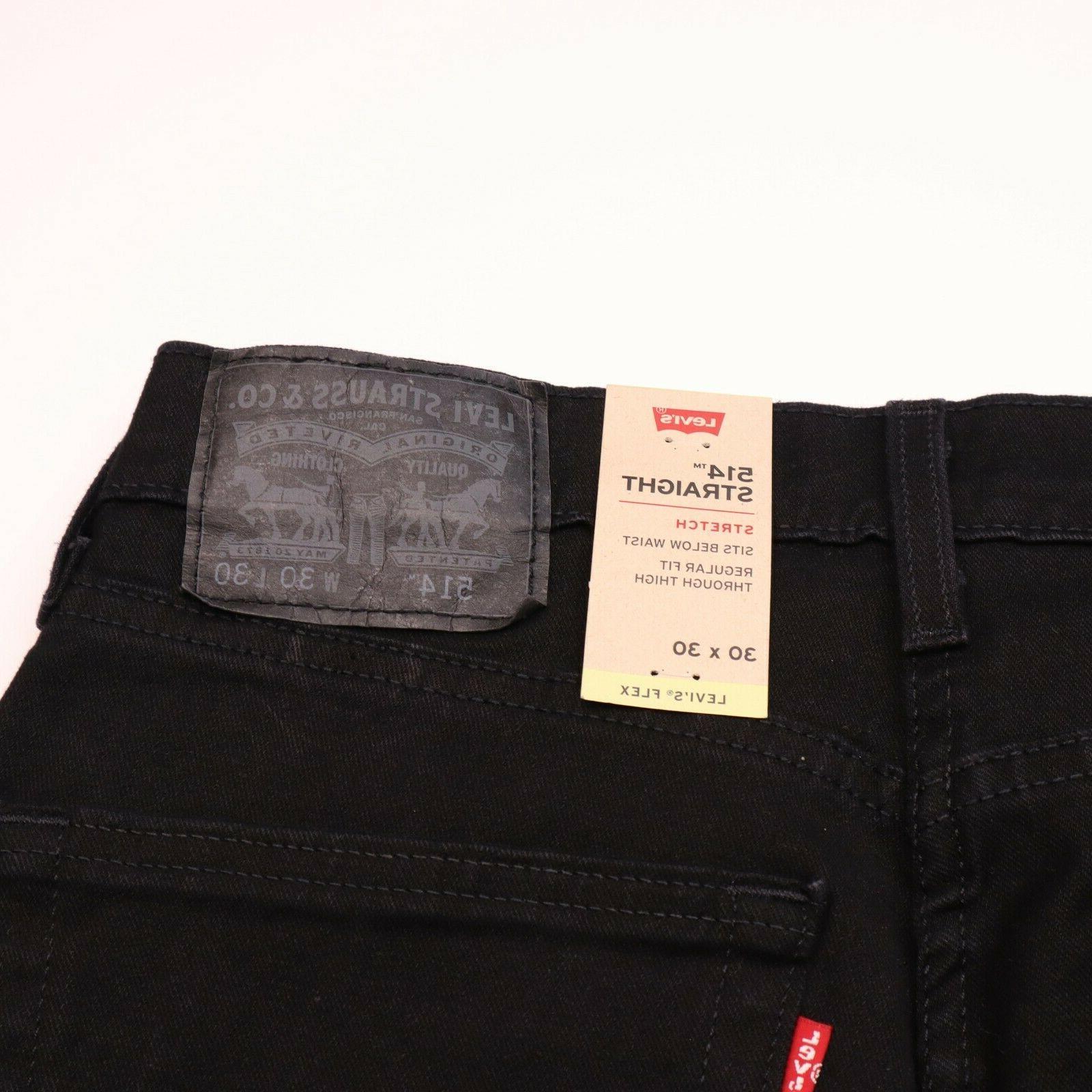 Levi Size 30 30 Straight Stretch Black Jeans