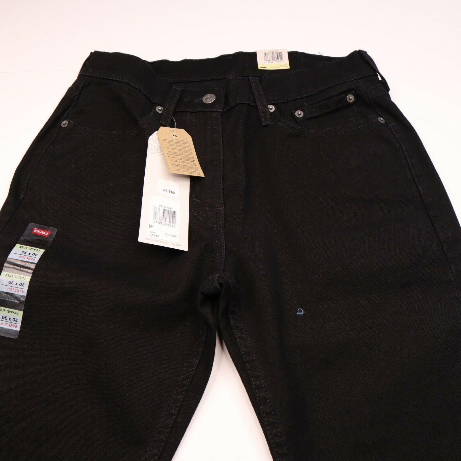 Levi 514 NWT Size 30 Straight Rise Stretch Black Jeans