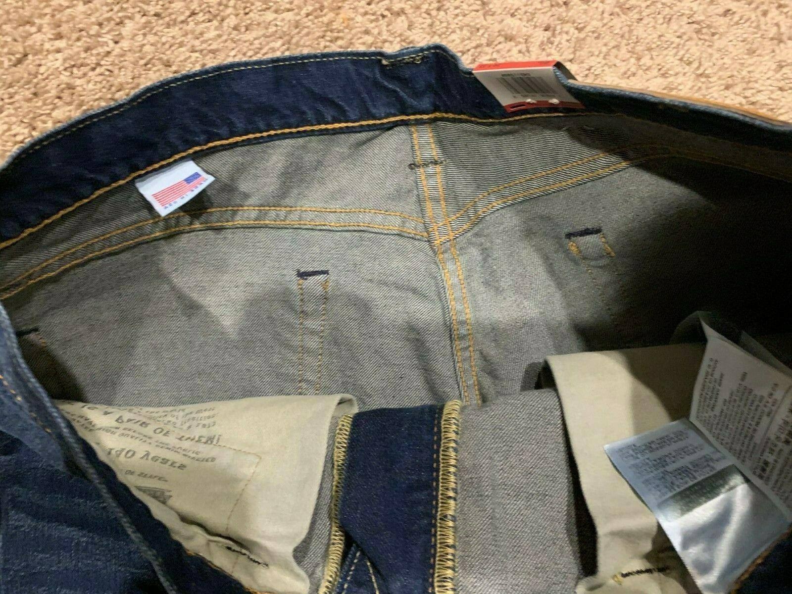 Levi's Made In The USA White Cone Jeans 36X32 RT$98