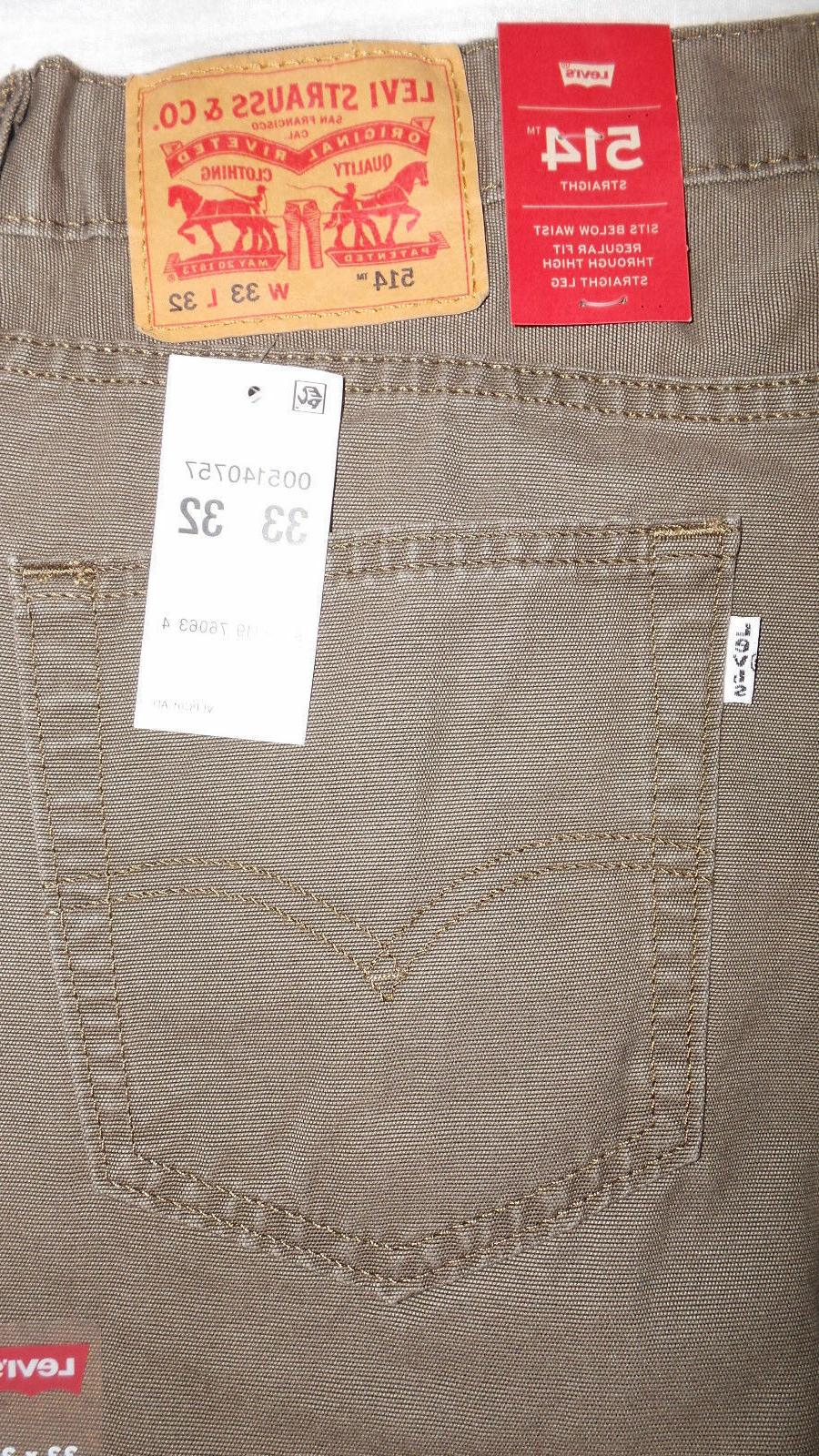LEVI'S STRAIGHT PADOX PANTS 33X32 EARTH