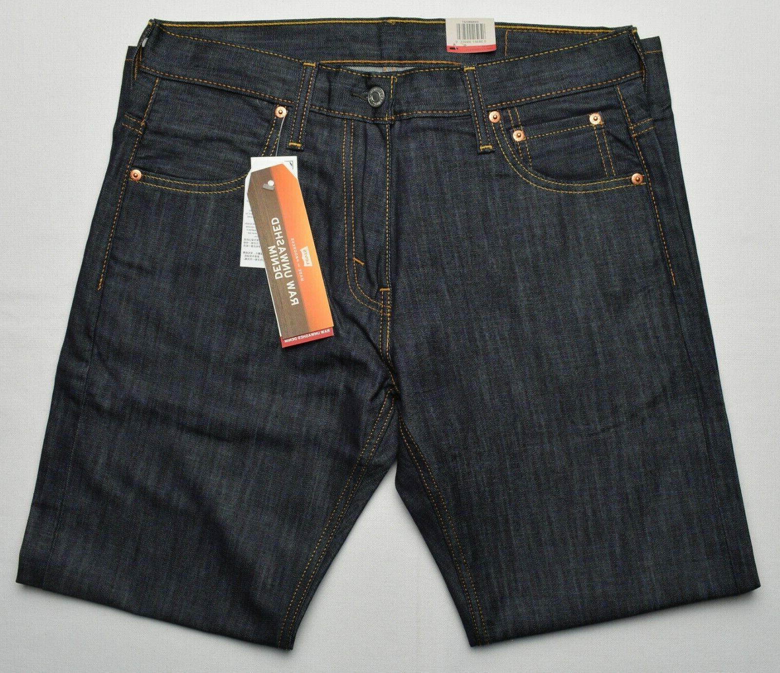 Loose Leg Unwashed Denim Jeans