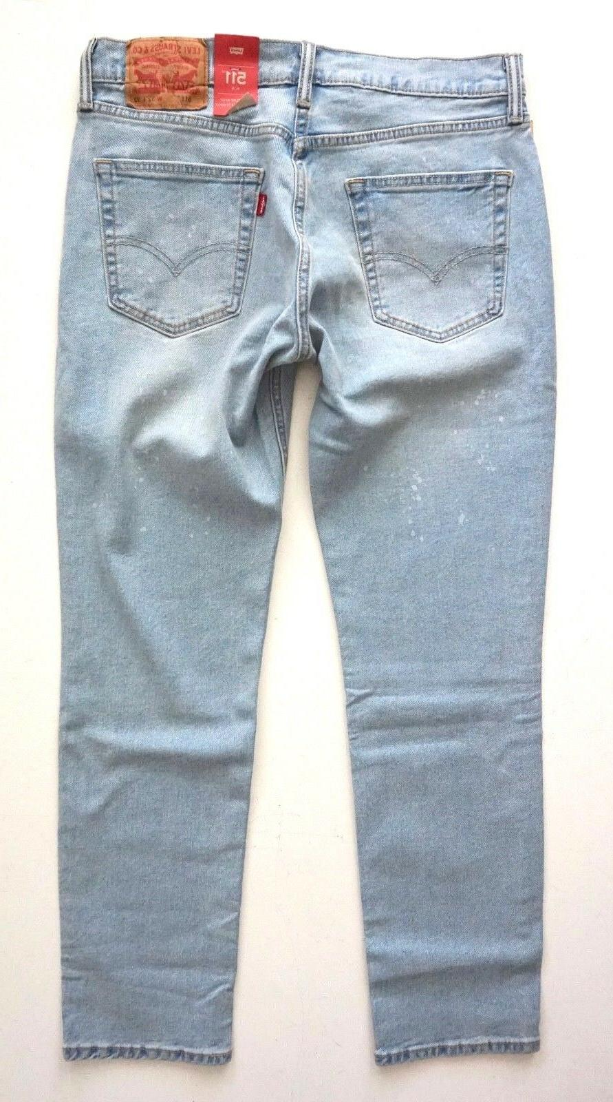 Levi's Levis Mens 511 Slim Crystal Ball Denim Jeans