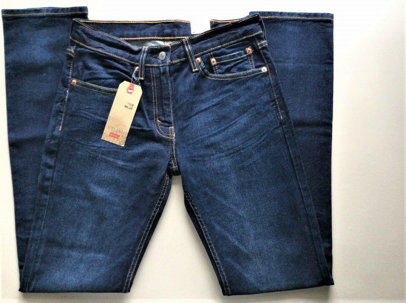 Levi's Men's 2369 33x32 Blue ~ Slim Fit Stretch