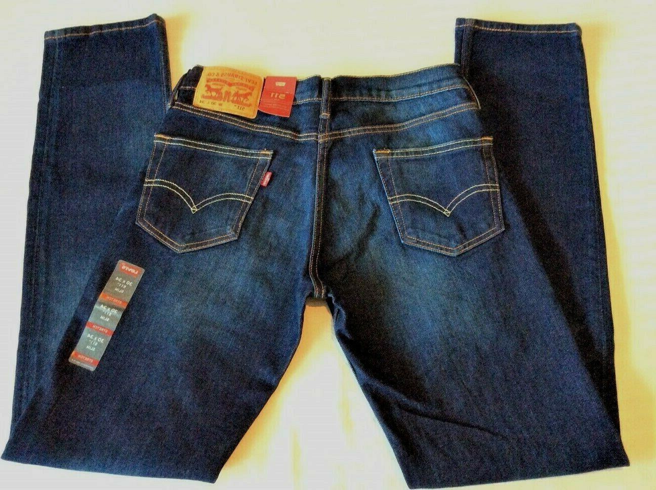 Levi's Men's NWT 511 2369 33x32 Boy Blue Slim Fit Stretch Denim