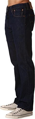 Levis 501 Jeans Original Men's Size 33 x 30 Dark Blue Button
