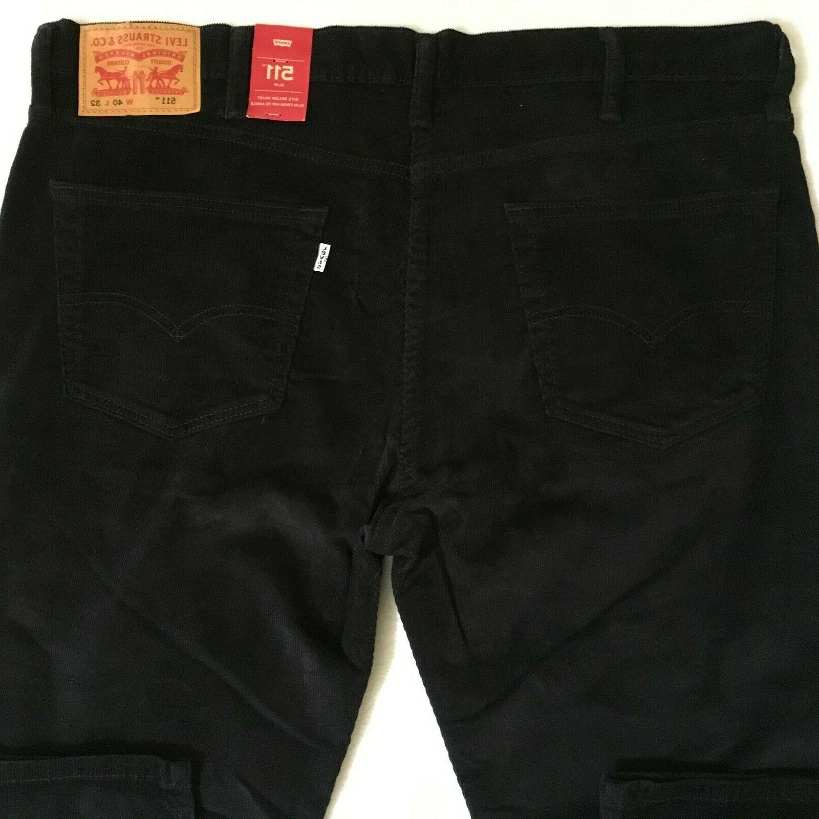 Levis 511 Slim Fit Stretch Pants 40x32 NWT $69.50