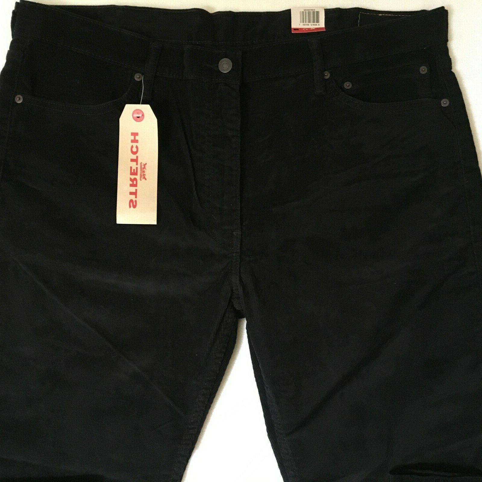 Levis Mens Fit Black Corduroy Pants NWT $69.50