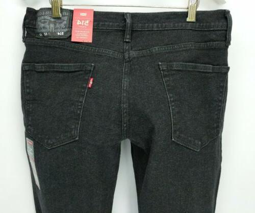 Levis 514 32x32 black straight stretch MSRP $69.50
