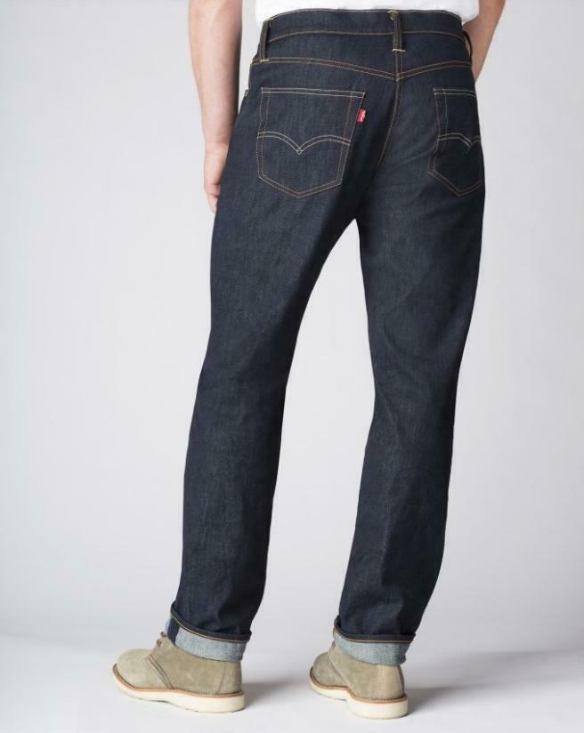 LEVIS Athletic Fit Jeans Stretch Tapered Big & Dragon Dark Blue