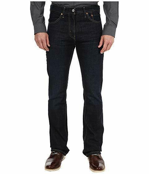 Levis Mens 527 Slim Fit Boot Dark Wash Tag Size 34X32