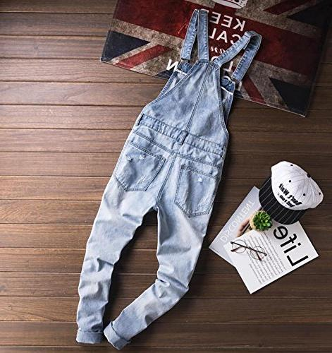 Sokotoo Slim Snow Washed Denim Bib Overalls 38