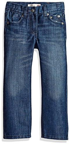 Levi's Little Boys' 514 Straight Fit Jeans, Blue Creek, 7