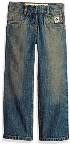 Cinch Big Boys' Low Rise Regular Jean, Medium Stone Wash wit