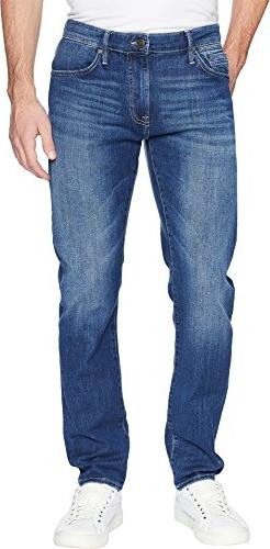 Mavi Men's Marcus Slim Straight Leg Jeans, Mid Brushed Summe