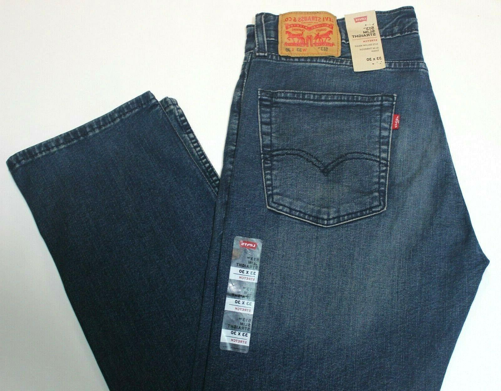 Men Levi's Slim Straight Dark Blue 085130705