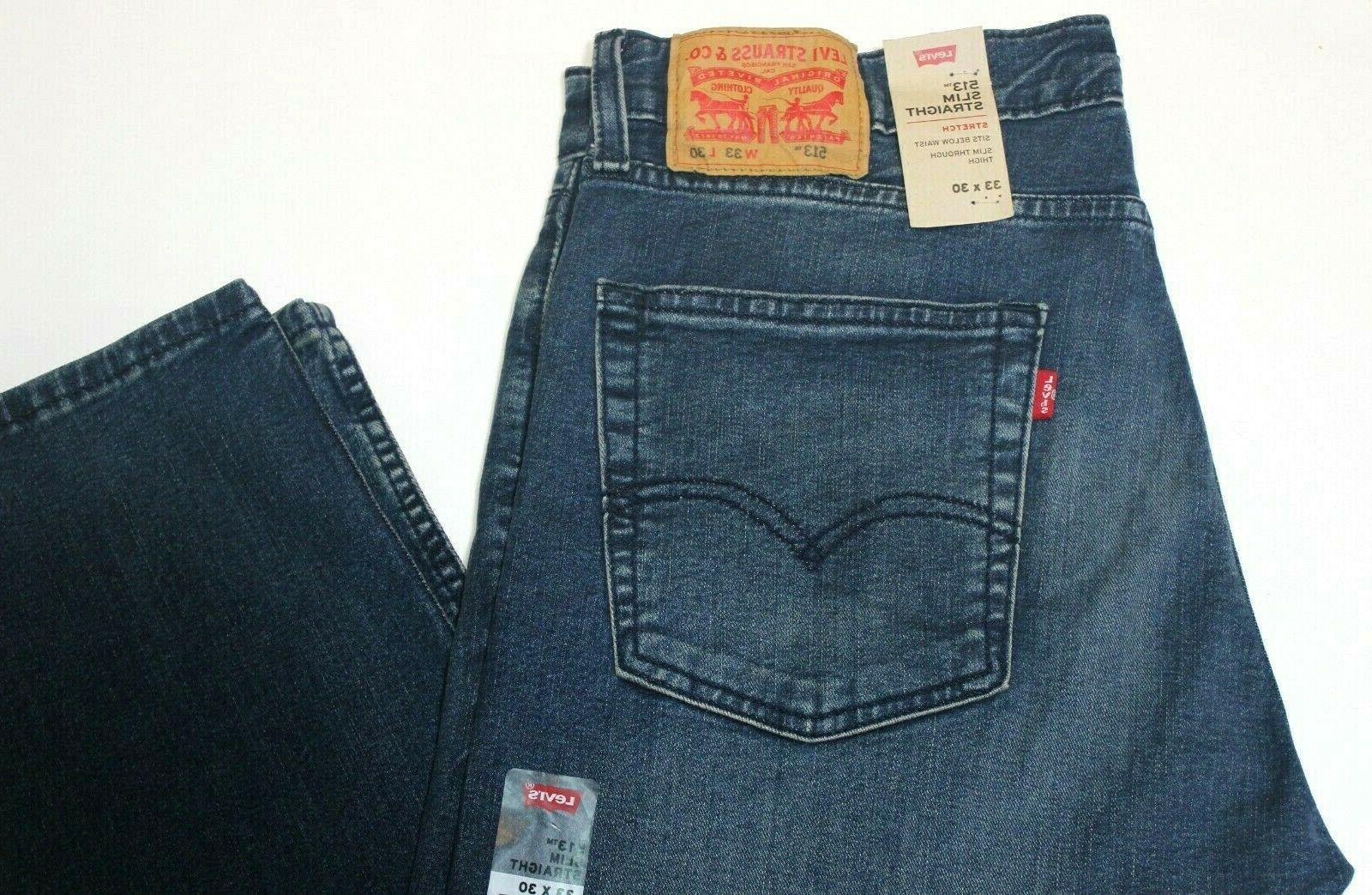 Men Slim Straight Faded Blue Jeans # 085130705