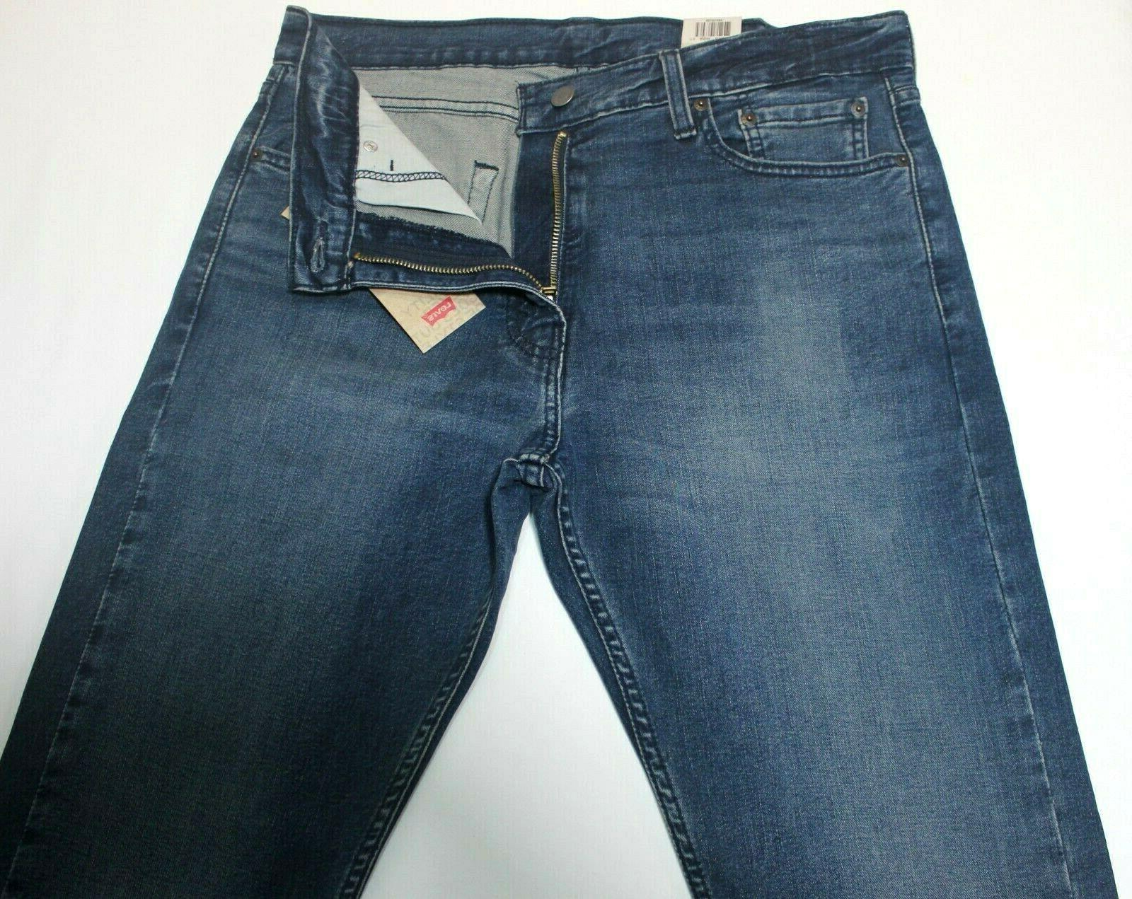 Men Authentic Levi's Slim Straight Faded Blue Stretch 085130705