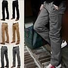 Men Casual Pencil Dress Pants Slim Fit Straight-Leg Formal J