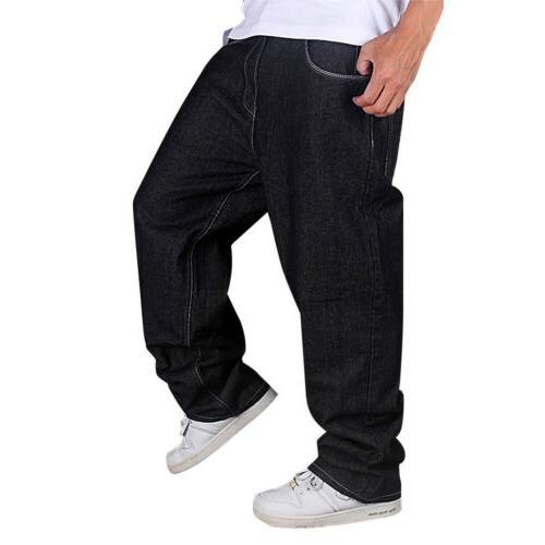 Men LOOSE Baggy Loose Skateboard Pants Streetwear