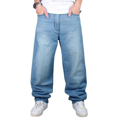 Men LOOSE Loose Rap Skateboard Pants Streetwear