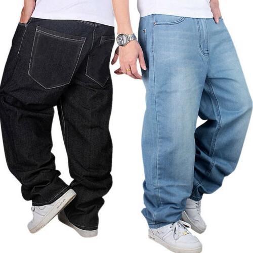 men jeans loose baggy loose denim hip