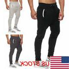 Men Long Casual Sports Pants Gym Slim Fit Trousers Running J