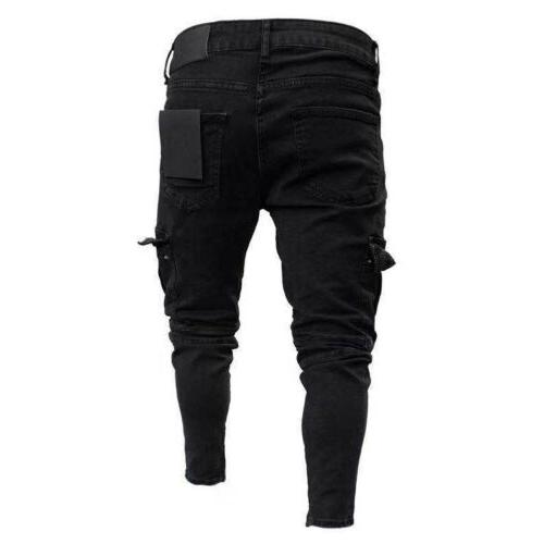 Men Ripped Jeans Casual Pants