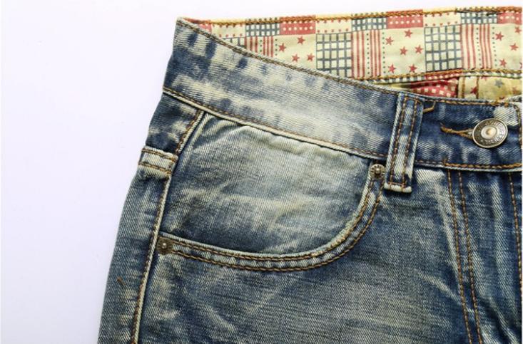 Men Ripped Jeans Slim Fit Jogger Denim