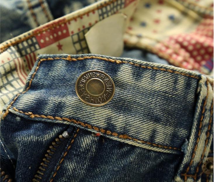 Men Jeans Slim Fit Denim Trousers