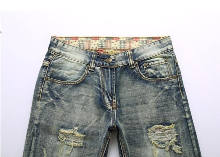 Men Skinny Jeans Slim Trousers