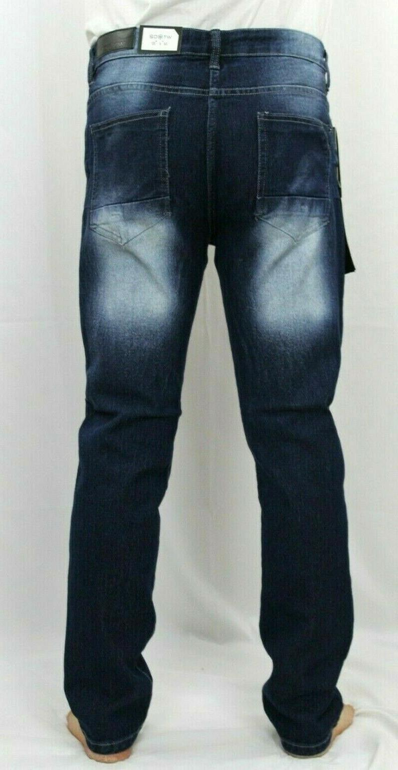 WT02 Men Ripped Stretch Distressed