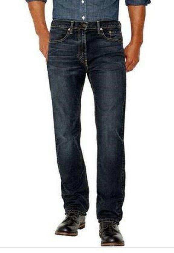 Men's x Levi's 505 Blue Dark Straight Jeans