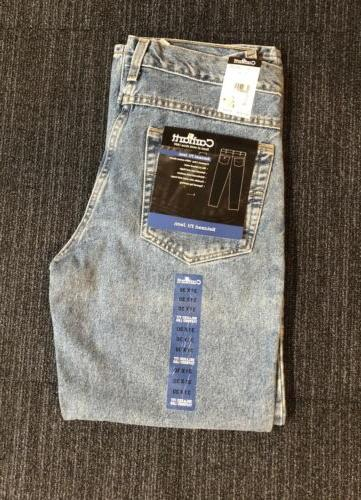 Carhartt Men/'s B17 Relaxed Fit Five Pocket Tapered Leg Jeans Stonewash NEW!