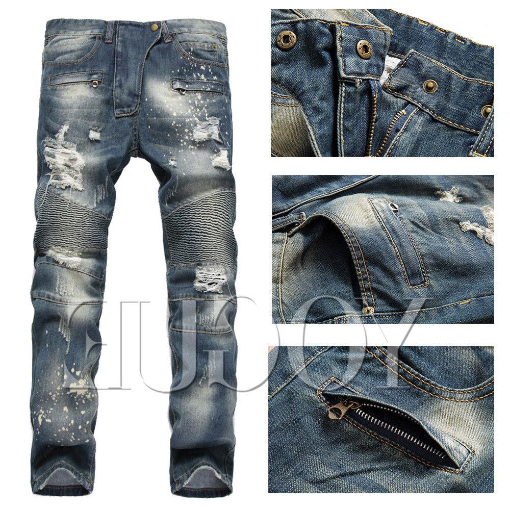 Jeans Bleached Slim Fit Pants